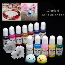 12 Color 10ml Resina Epossidica Epoxy farbe Pigmento Arte per Gioielli fai da te