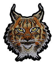 Lynx Embroidered Iron On Patch - Wild Animal Cat 050-T