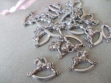20 X Mecedora De Caballo De Plata Tibetana Metal charms/pendants, Craft joyería haciendo