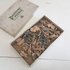 Antique PASTIME Wooden JIGSAW Puzzle,200+ piece,COAST GUARD RESCUE,Parker Bros