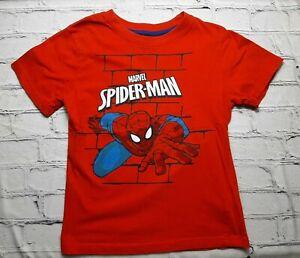 Marvel Spiderman Boy 7 Red Logo Graphic Web Hero Casual Short Sleeve T Shirt