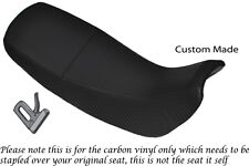 Fibre de carbone vinyle personnalisé fits honda nx 650 dominator 92-01 double housse de selle