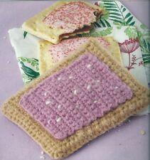 Crochet Pattern ~ TOASTER PASTRY, POP TART Toy Food ~ Instructions