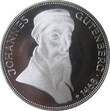J397  5 DM Gedenkmünze Johannes Gutenberg von 1968 G in PP  607