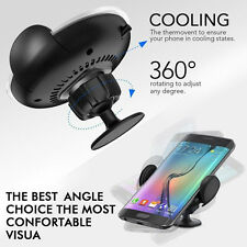 Wireless Car Charger Dock Air Vent Dashboard Mount Holder For Samsung Galaxy /LG