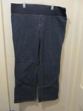 NEW ADDITIONS MATERNITY JEANS blue denim stretchy dark wash bootcut 16