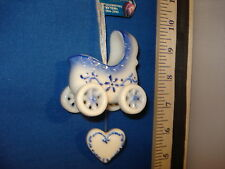 Baby Buggy Delft Glass ornament h3763 218