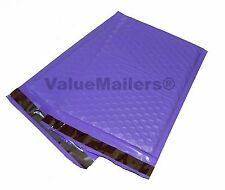 "50 #0 ( Purple ) Poly Bubble Mailers Envelopes Bags 6x10 Extra Wide 6.5"" DVD"