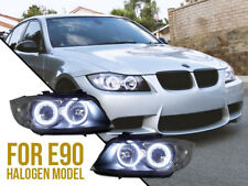 DEPO DRL LED Angel Halo Clear Headlight For 2006-11 BMW E90 Stock Halogen Model