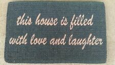House full of Love & Laughter Thick Impressive 100% Natural Coir Door Mat