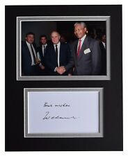 FW de Klerk Signed Autograph 10x8 photo display Nelson Mandela AFTAL COA