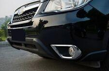 Subaru Forester S4 Chrome Front Foglight Fog Light Lamp Cover Reflector
