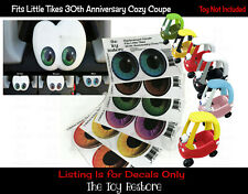 Eye Color Replacement Stickers Fits Little Tikes cozy coupe 30th Anniverary car