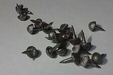 20 clous  acier à tête ronde et striée pour semelles de brodequins 14-18
