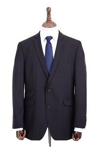 Men's Burtons Black Suit Wool Blend Tailored Fit