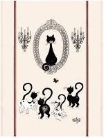 Torchons & Bouchons French Cat PORTRAIT de CHAT DUBOUT Art Kitchen Towel $19.95