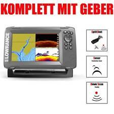 Lowrance Kartenplotter Echolot mit Geber Hook2 7 SplitShot HDI CHIRP Combo GPS