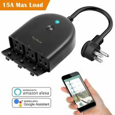 Outdoor Smart Wifi Plug Outlet,Tonbux Wireless (1 In 3 Out) Individual Remote