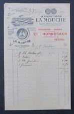 Facture SAVON LA MOUCHE Hornecker VESOUL Savonnerie MARSEILLE