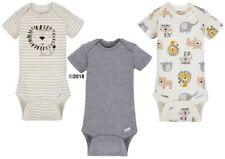 Gerber Baby Boy 3-Piece Organic Cotton Oatmeal Lion Onesies Size 12M