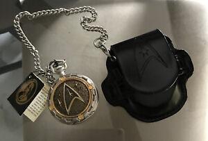 Franklin Mint Collectors Star Trek Enterprise Precision Pocket Watch