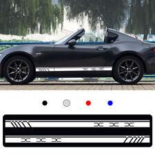 For Mazda MX5 CX 3 Car Body Sticker Vinyl Side Skirt Sticker Decals white 2pcs