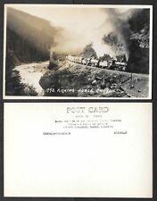Canada Real Photo Postcard - Byron Harmon, Railroad Train, Kicking Horse