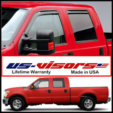 US-Visors 2009-2016 Ford Super Duty Crew Cab Truck Window Vent Visors In-Channel