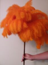 One soft extra large orange ostrich feather display duster 75cm overall