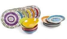 Excelsa Etno Color Servizio Tavola, Porcellana, Multicolore, 18 Unità (R6I)