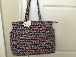 """NWT Betty Boop Tote Bag One Size 17"""" X 13"""" X 7"""" Travel Overnight Large Black"""