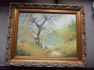 """COLLECTABLE ORIGINAL ARTWORK. Oil Painting """"Summer Days"""" By Les Parsons"""