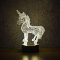 3D Unicorn Night Lights Creative Acrylic LED Light Table Lamp Decoration Lights