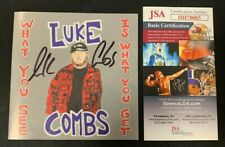 "LUKE COMBS HAND SIGNED ""WHAT YOU SEE IS WHAT YOU GET"" CD BOOKLET JSA/COA"