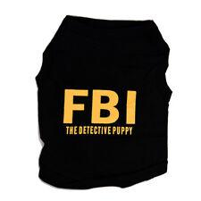 Ropa de Top de moda para perro gato Ropa de verano de FBI el detective Chaleco d
