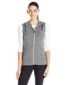 Size Sm -  Icebreaker Merino Dia Vest Sweater, Gritstone Heather/Snow Small