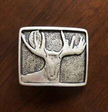 Deer Hunting Season Hunter Antler Buck Metal Unisex Men's Belt Buckle