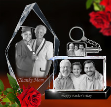3D Laser Crystal Photo Gifts-Father's Day-Graduation-Weddings-Pets-Awards etc
