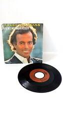 45 tours Julio Iglesias, Viens m'embrasser vinyles vintage musique 80s 70s