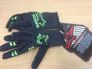Alpinestar Adult Radar Gloves Motocross MX Mtb Bike OffRd Black Green Size S