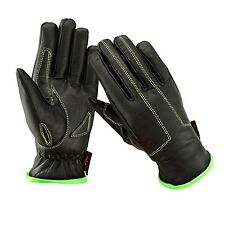 EVO Premium All Weather Leather Gloves Motorbike Motor cycle Casual Wheelchair