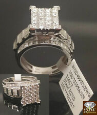 Real 2 CT Diamond Solid 10k White Gold ladies Ring Engagement Wedding Women band