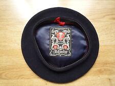 Boina Vasca sombrero extra adjaly, Lana Pura, Francés Vintage, Talla 56, azul oscuro