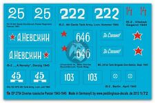 Peddinghaus 1/72 Various Russian Tank Markings 1943-1945 WWII (8 tanks) 2754
