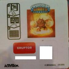 Eruptor Skylanders Giants Sticker/Code Only!