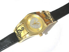 Hip Hop Leather Band Baby Phat Ladies Watch Gold Item 3472