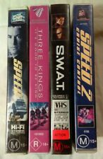 VHS Lot of 4 Large Case Titles: Speed 1 & 2, Three Kings & S.W.A.T.