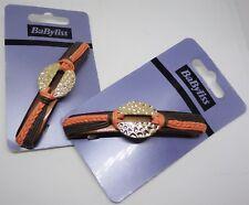 Babyliss Ladies Hair Clip,Barrette,Hammered Gold Medal Style,Orange/Brown,9.5 cm