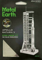 Fascinations Metal Earth US Apollo Saturn V w/ Gantry 3D Steel Model Kit MMS167