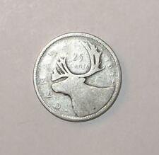 1937 Canada Canadian Quarter 25 CENT 80% SILVER COIN